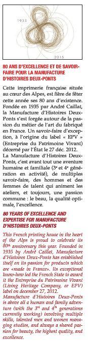 80 ans - Tendances et emballages - Manufacture Deux-Ponts